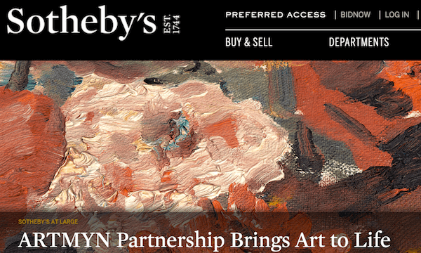 Artmyn's technology will bring highlights from Sotheby's to life in a unique way